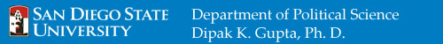 Department of Political Science: Dipak Gupta, Ph.D.